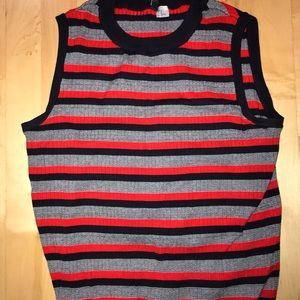 Sleeveless sweater tank. Size M but stretches!